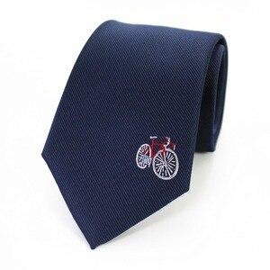 Image 3 - JEMYGINS original 8cm natural silk tie handmade logo fashion mens tie multicolor mens jacquard tie business dress casual party