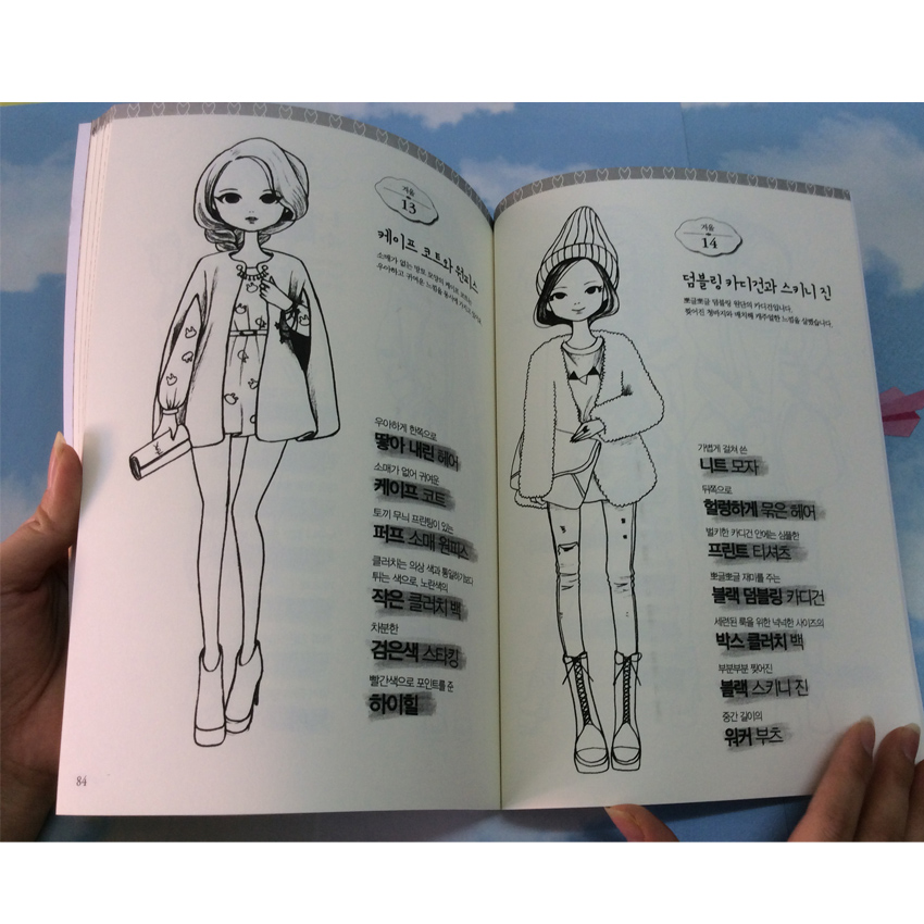 92 Pages Fashion Girl Coloring Book For Children Adults Relieve Stress Graffiti Secret Garden Painting Drawing Books