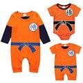 Комбинезоны с узором дракона «мяч»  Одежда для новорожденных мальчиков  комбинезон для малышей с изображением Сон Гоку  костюмы на Хэллоуин...