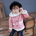 2016 Winter Warm Suede Fabric Coat For Boys Children Hooded Long Jackets Brand Kids Thermal Overcoat Outerwear