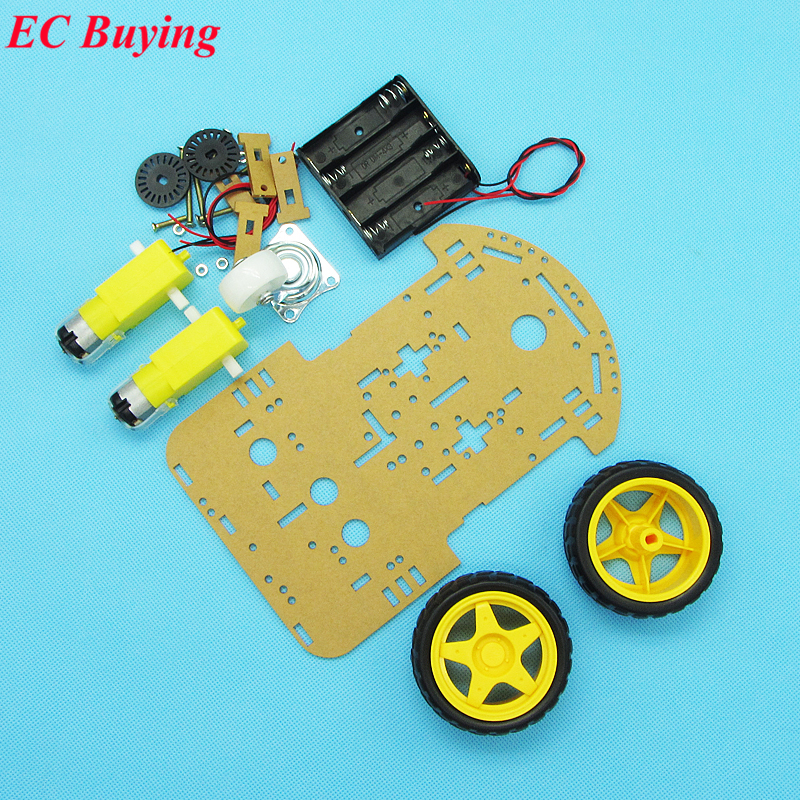 New Motor Smart Robot Car Chassis Kit Speed Encoder Battery Box WD