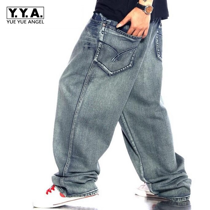 New Arrival High Quality Mens casual pants hip hop denim long baggy loose Baggy jeans trousers size Plus Size Free Shipping denim straight leg loose mens trouser jean chic pants baggy pocket cargo pants trousers loose jeans blue plus size free shipping
