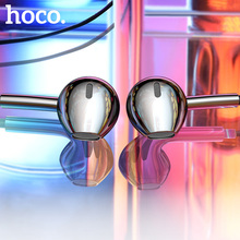 HOCO Original Wired Earphone Earbuds With Remote Mic 3.5mm Wired In-ear Plug Earphone For iPhone 6S Plus Xiaomi Samsung S6 S7 S8 original genuine xiaomi mikey quick shortcut button 3 5mm earphone plug blue