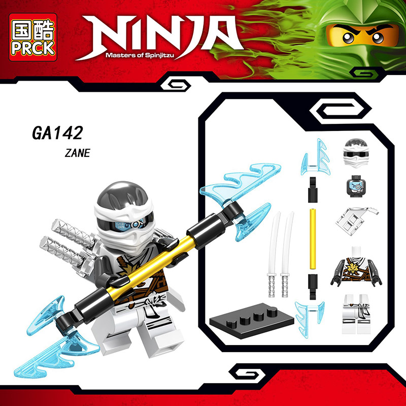 Single Sale Compatible Legoinglys Ninjagoed Minifigure COLE PYTHO YANG GOLDEN NINJA KAI ZANE Blocks Action Toys For Kids Gifts