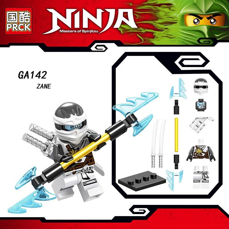 Single Sale Compatible Legoinglys Ninjagoed Minifigure COLE PYTHO YANG GOLDEN NINJA KAI ZANE Blocks Action Toys For Kids Gifts
