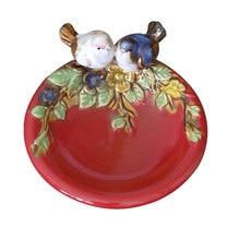 Creative Ceramic Animal Decorative Plate Multipurpose Fruit Snack Dessert Plate Soap Dish Craft Grocery Storage Basin Home Decor(China)
