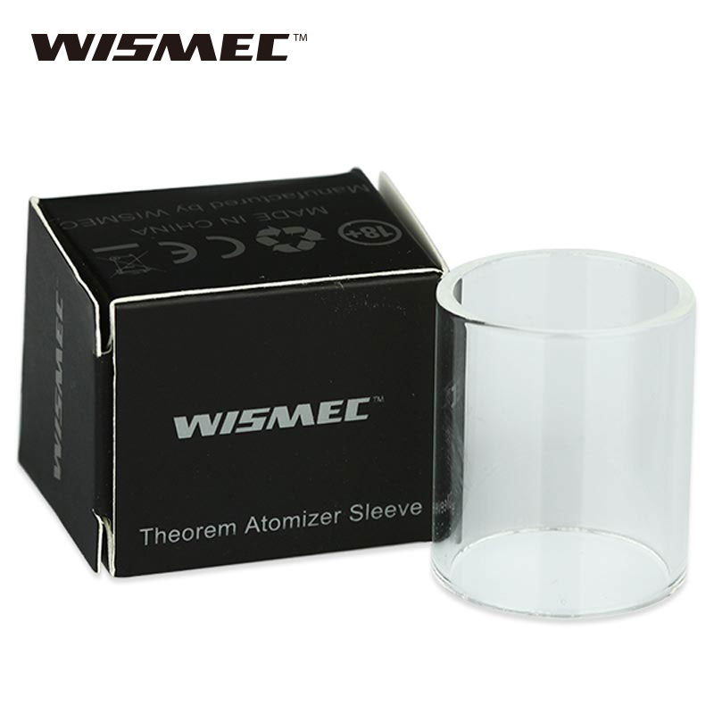 5pcs WISMEC Theorem RTA Atomizer Tube Sleeve Replace Pyrex Glass Tube Vaporizer for WISM ...