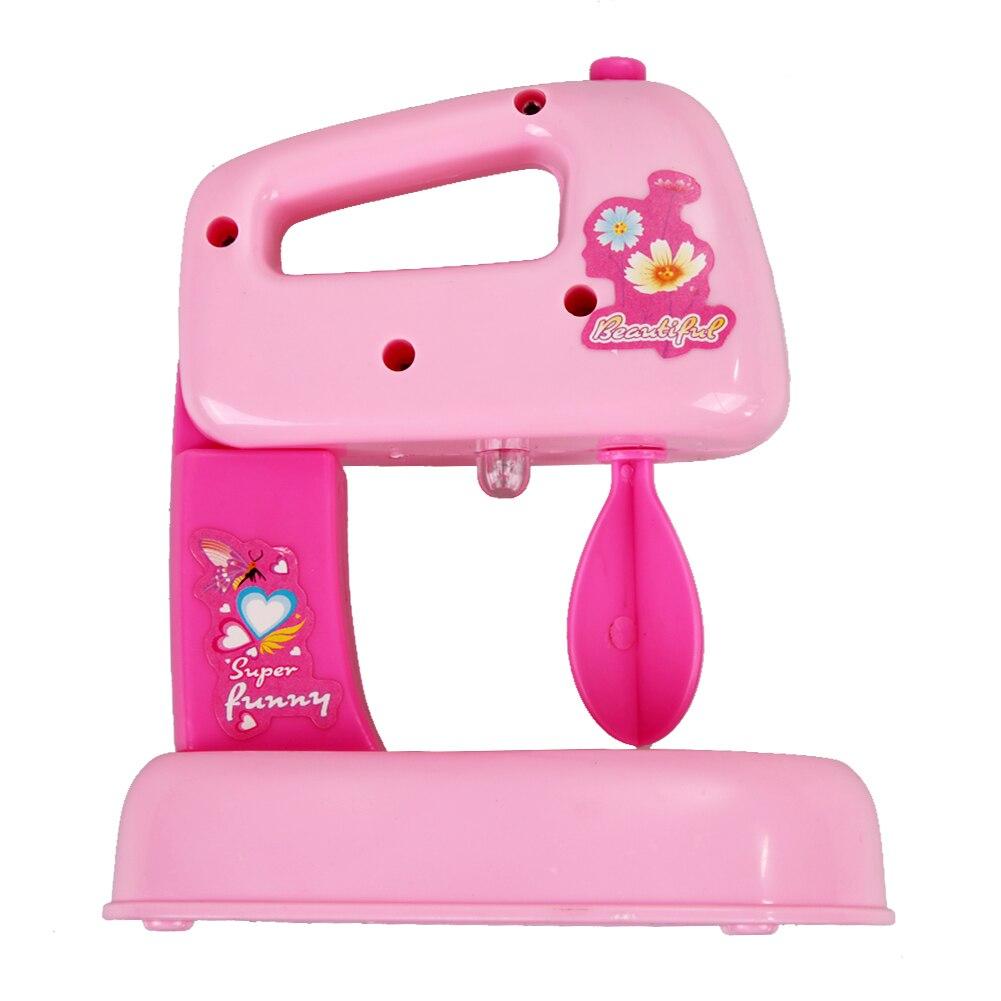 rosa de mini batidora elctrica mezclador de cocina emulational juguete del cabrito de la muchacha nios
