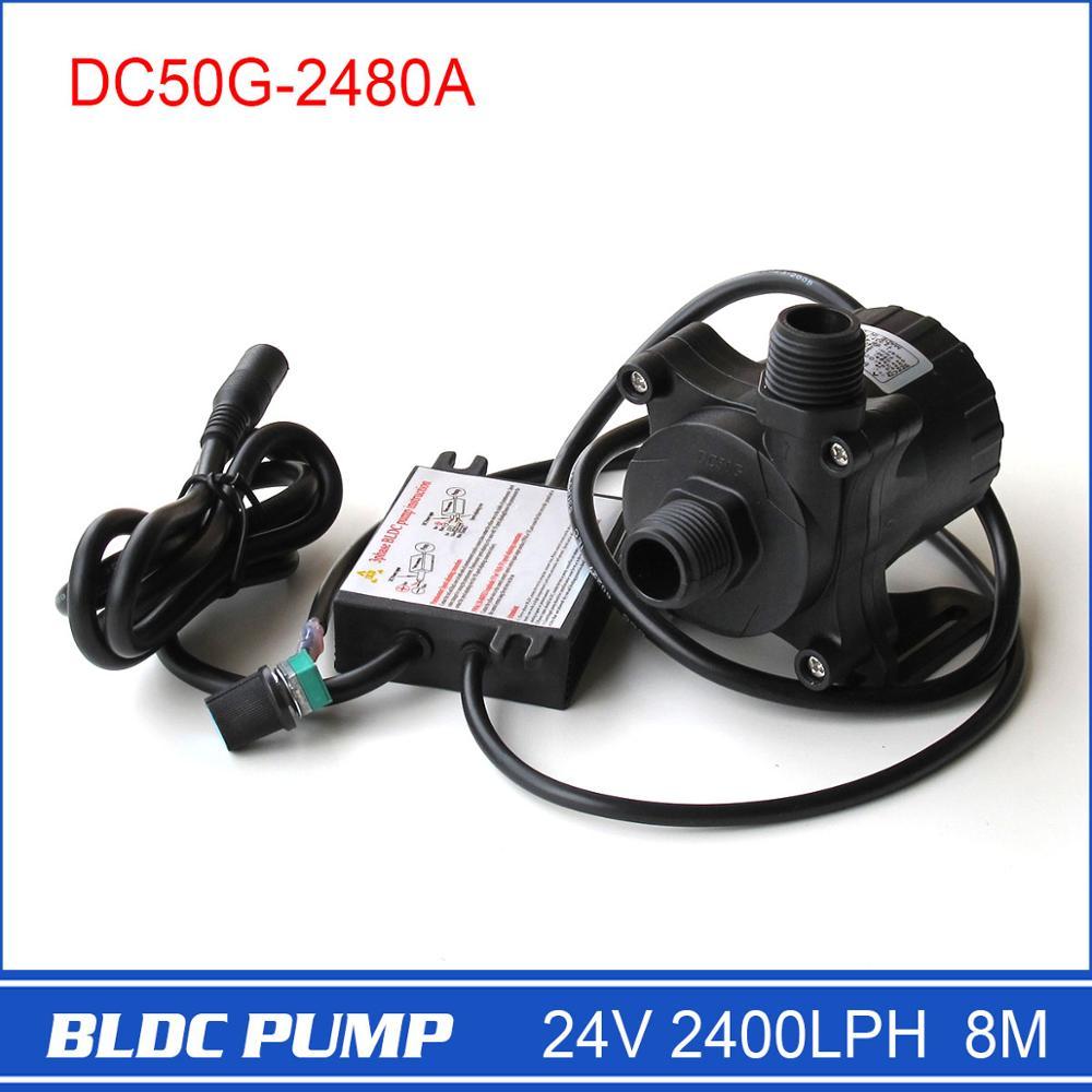 DC50G 2480A 24v Water fountain Pump 2400LPH 8M Solar fountain Pump speed controllable