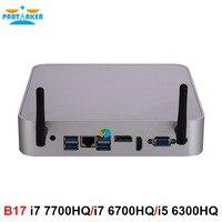Причастником Intel Core i7 7700HQ i7 6700HQ i5 6300HQ Мини ПК Windows 10 микро компьютер DDR4 ram 4 K HTPC HDMI DP