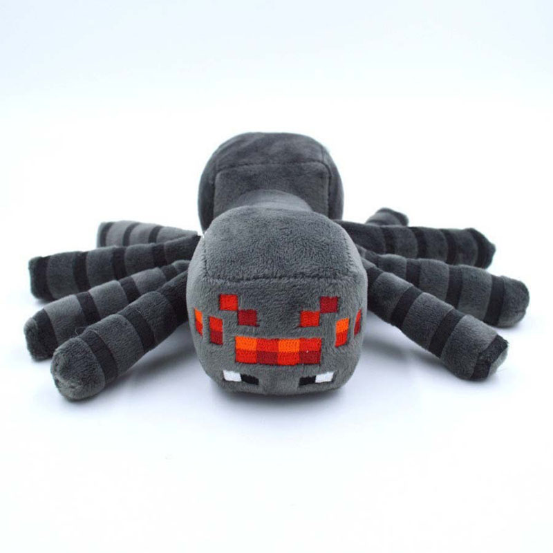 New Arrival Minecraft Plush Toys 16CM/32cm Gray Minecraft Spider Stuffed Plush Toys Kids Game Cartoon Toys brinquedos Gift
