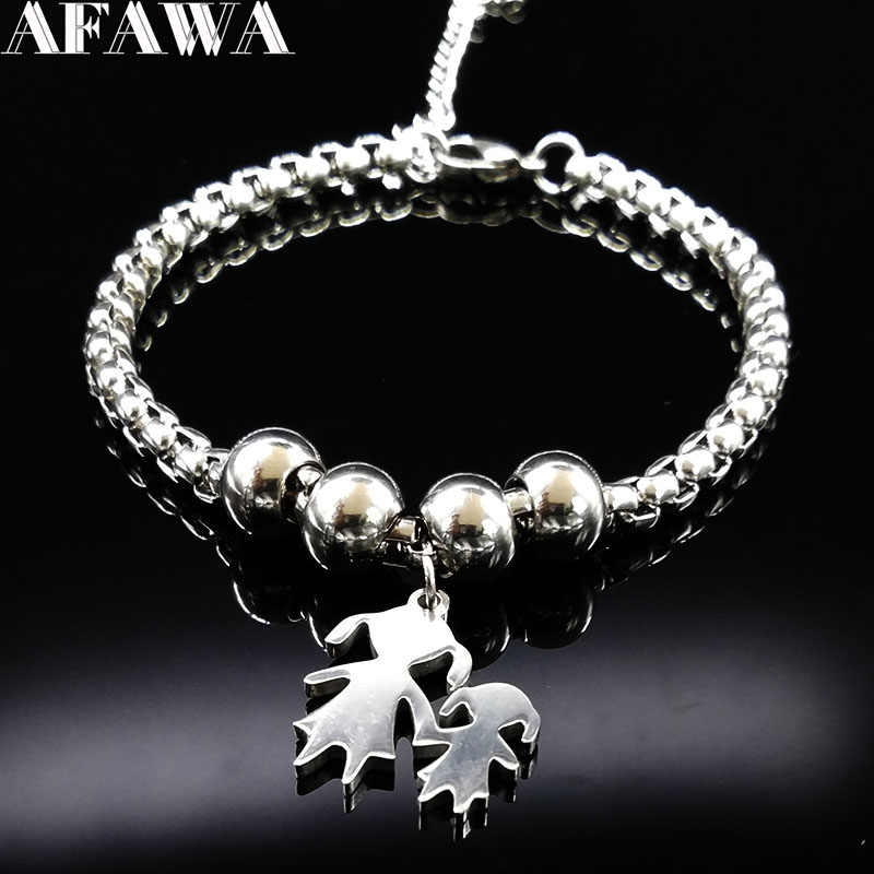 2019 Mother and Daughter Stainless Steel Bracelet for Women Stainless Steel Mother Bracelet Jewelry pulseira feminina BB1101A