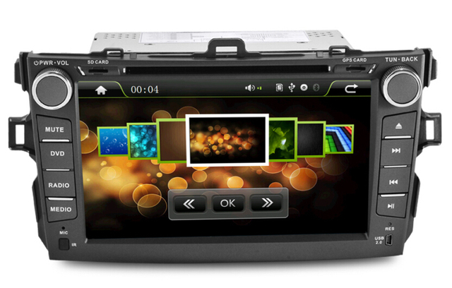 """New 8""""Toyota corolla Car DVD Player with GPS Navigation TV Bluetooth Radio RDS,Steering wheel control,free shipping"""