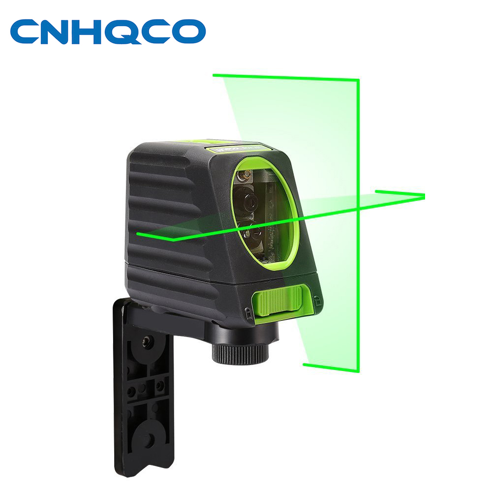 CNHQCO Self-leveling Laser Level 2 Line -150ft/45m Outdoor Green Cross Line Laser Level with vertical beam spread covers AE139 102 laser line instrument laser level line level instrument