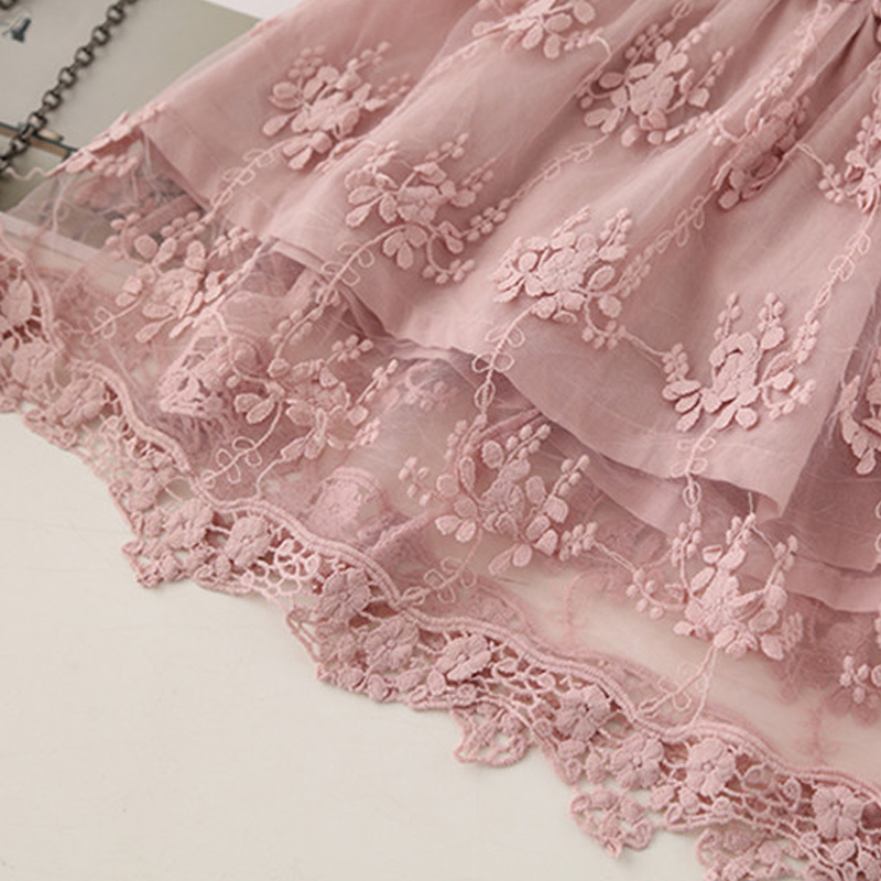 HTB1O6GGaF67gK0jSZPfq6yhhFXac Girl Dress Kids Dresses For Girls Mesh Casual Lace Embroidery Princess Baby Girl Clothes Summer Sleeveless Dress Kids Clothes