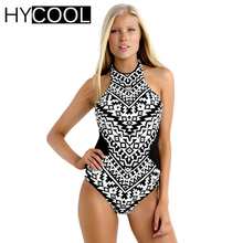 Women Black One Piece Swimsuit Sexy Bathing Suit Bather Monokini Backless Female swimwear Women Swiming suit