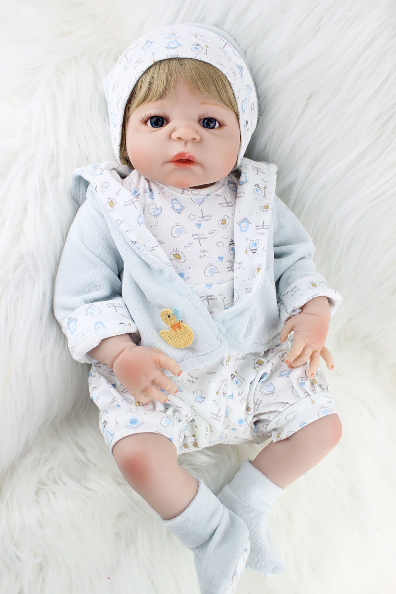 55cm Full Body Silicone Reborn Boy Baby Like Real Doll Toys 22inch Newborn Boy Babies Dolls Girl Birthday Gift Kids Bathe Toy full silicone body reborn baby doll toys lifelike 55cm newborn boy babies dolls for kids fashion birthday present bathe toy