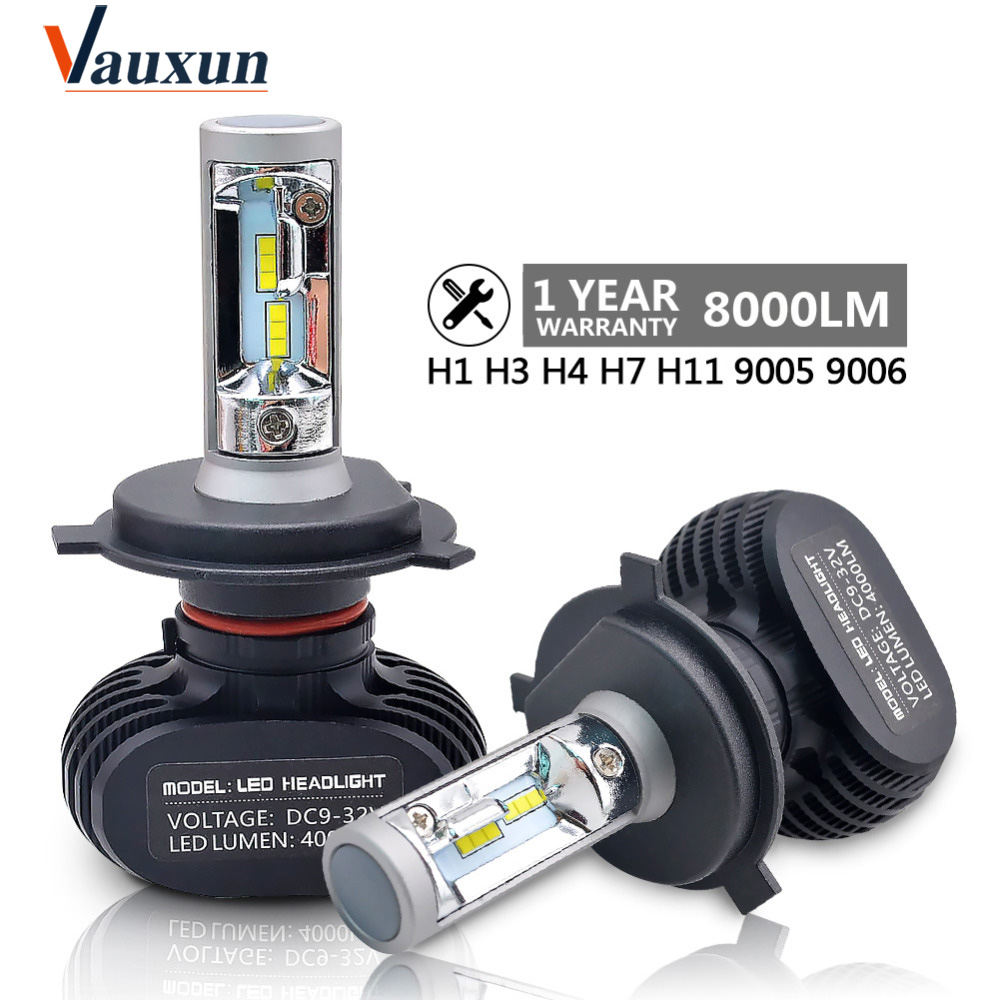 2pcs H7 Led H4 H11 H8 H9 H1 H3 9005 9006 LED car light Super bright Auto fog lights headlamp 50W 8000LM  6500K Car lights
