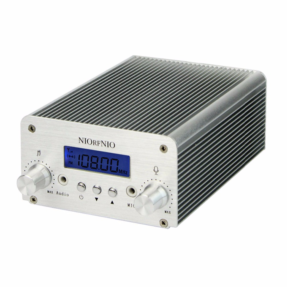 NIORFNIO 5W / 15W PLL FM Transmitter Mini Radio Stereo Station Bluetooth Wireless Broadcast only host Y4351D гном