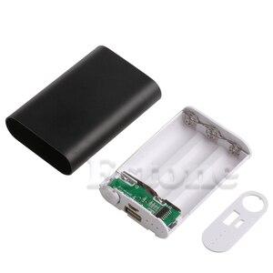 Image 4 - Alüminyum 5V 1A taşınabilir güç kaynağı kılıfı kiti 3X 18650 pil şarj cihazı için cep telefonu