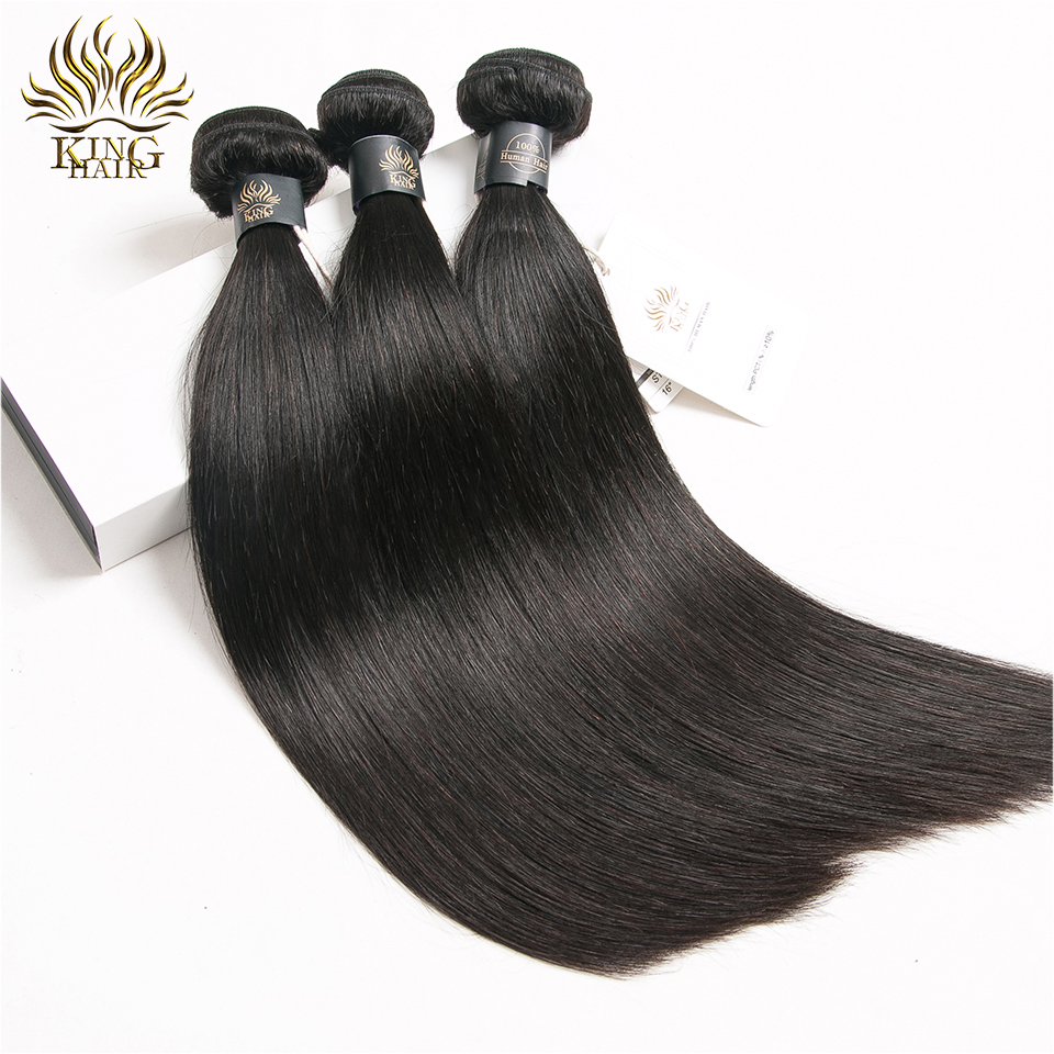 Indian Straight Hair 3 Bundles 100% Human Hair Weave 8-28Inch Mixed Length Color 1b Remy Hair Extensions Free Shipping