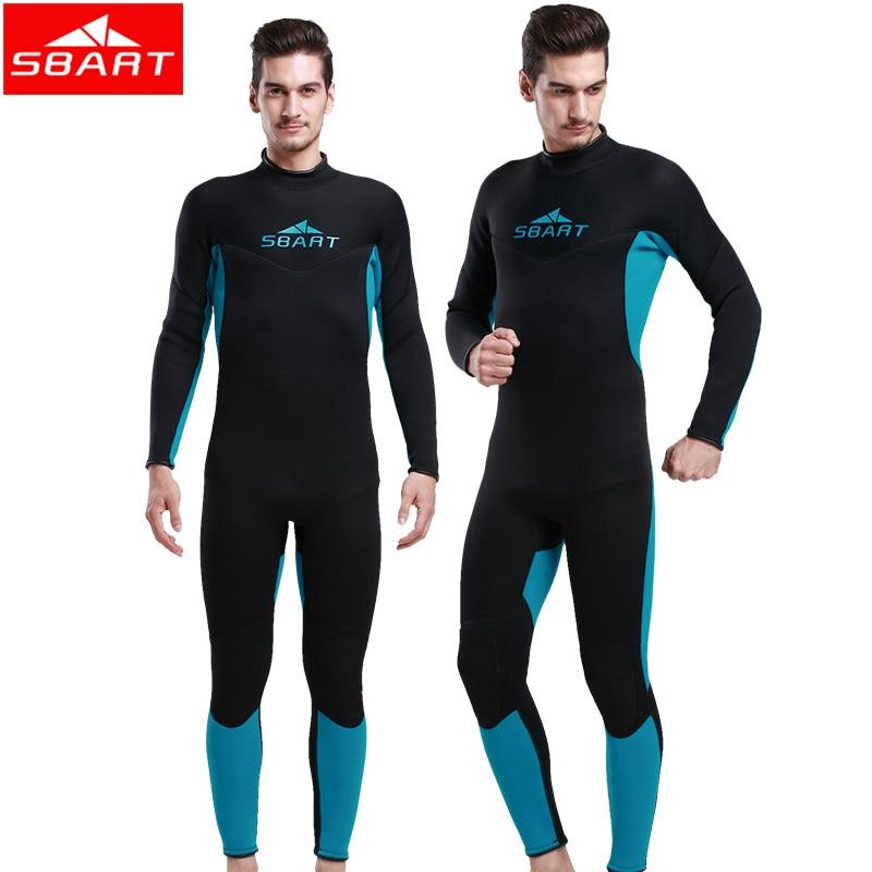 SBART New Wetsuit 3MM Diving Suit Roupa De Mergulho Bodyboard Scuba Diving Equipment Triathlon Wetsuit Neopreno 2XL 1017N