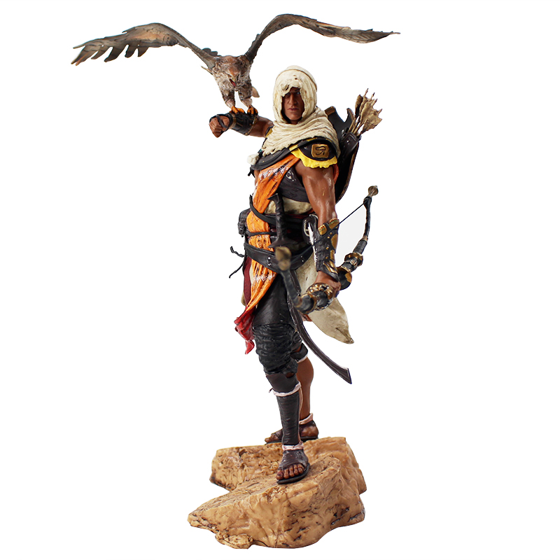 30cm Assassins Creed Assassin's Creed Origines Bayek Protecteur With His Eagle PVC Action Figure Collectible Model Toy Doll assassins creed origins aya pvc figure collectible model toy 22cm