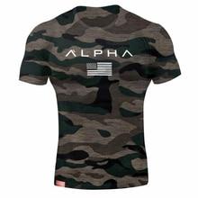 Camiseta de ejército militar para hombre, Camiseta de algodón holgada de estrella para hombre, camiseta de manga corta de talla Alpha America con cuello redondo, camisetas de entrenar para hombre