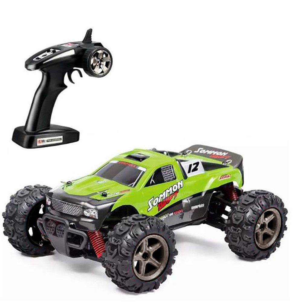 High Speed 1:24 Scale Off Road 2.4GHz 4WD Machine Remote Control 700mA RC Car Green Orange Monster Truck High Quity 2017 OC30b