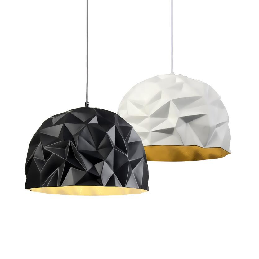 Nordic Diesel X Foscarini Rock Suspension Lamp D50cm White Black Resin Shade Pendant Light Lamp For Dining Room Bedroom Shop
