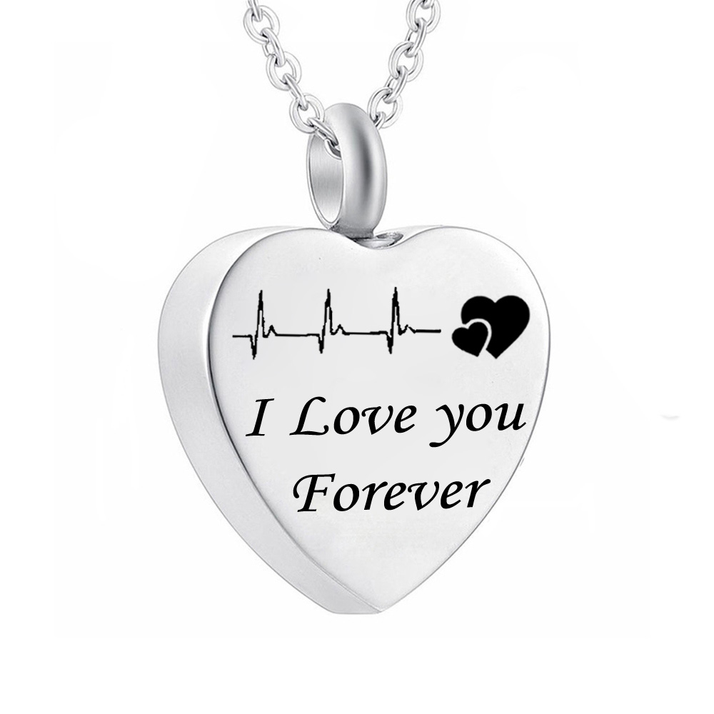 Short Black Pointed Bullet Cremation Urn Stainless Steel Pendant Necklace