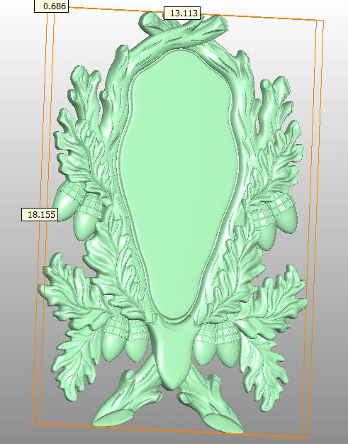 Рамка 3D модель в формате STL cnc резьба Гравировальный маршрутизатор рельеф Artcam Aspire F21