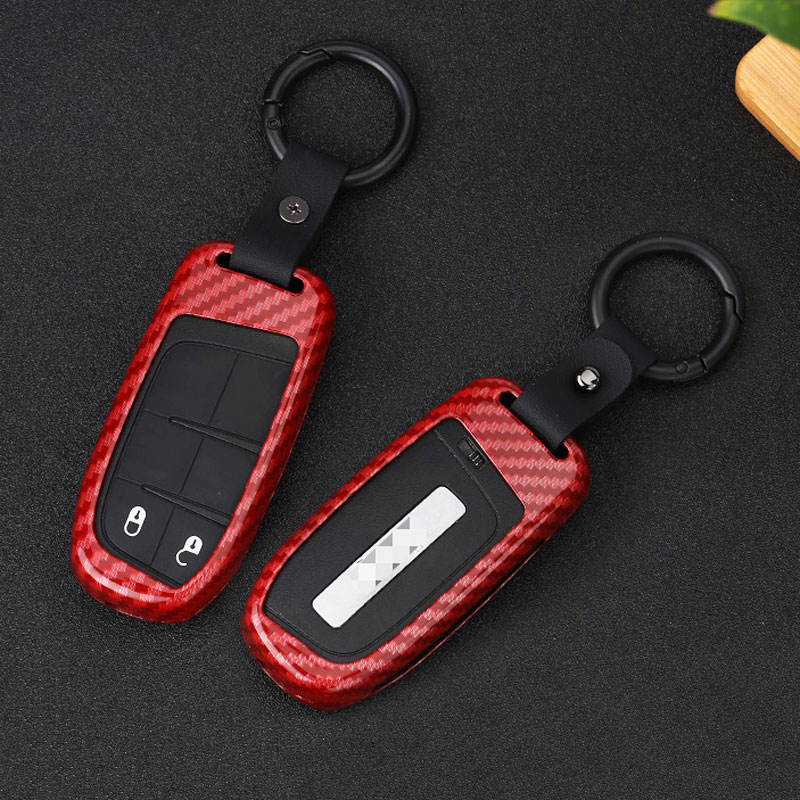 Black Smart Key Chain Case Cover For Jeep Cherokee//Dodge Dart//Chrysler 300//Fiat