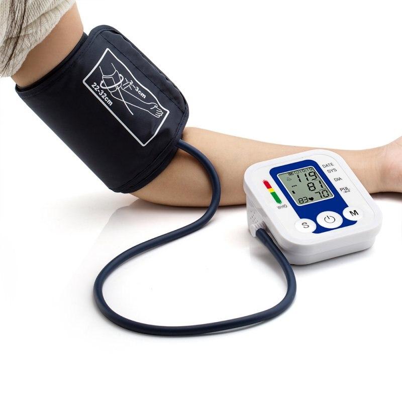 Arm Blood Pressure Pulse Monitors tonometer Portable Home Health Care Blood Pressure Monitor meters sphygmomanometer for Home home use blood pressure monitor health care heart monitor arm blood pressure monitor sphygmomanometer nonvoice