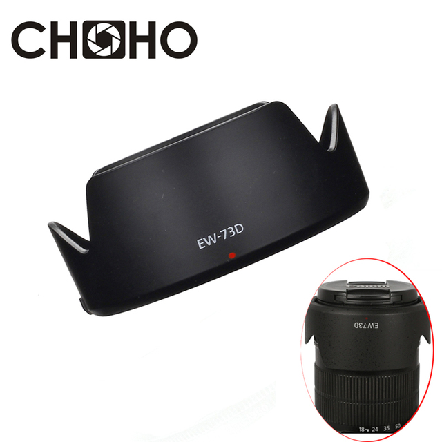 EW-73D 67mm ew 73D EW73D Lente capucha Reversible Cámara Lente accesorios para Canon 80D 7DII 7D2 77D 760D EF-S 18-135mm USM