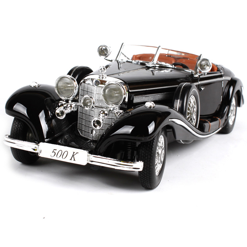 ФОТО Maisto 1936 Mercedes-Benz 500K Vintage Car 1:18 Scale Model Alloy Metal Diecasts & Toy Vehicles Classic car Collection Boys Gift