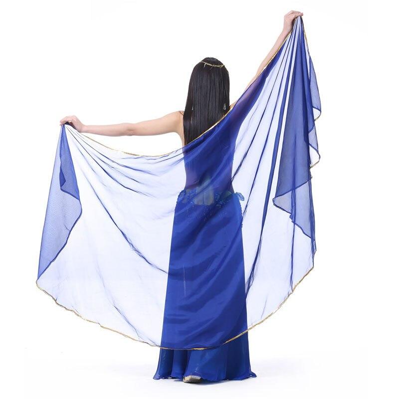 1 Stks Gratis Verzending Vrouw Buikdansen Chiffon Sluier Dance Dancing Costume Chiffon Shawl Veil 250*120 Cm