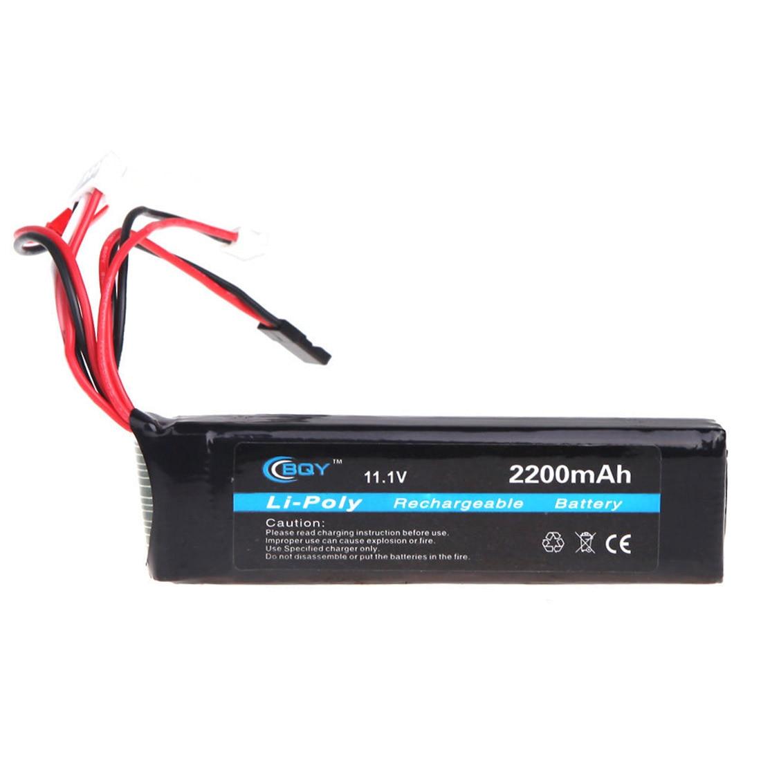 BQY Transmitter LiPo Batterie 11,1 V 2200 mAh 3 stecker für JR Futaba Walkera