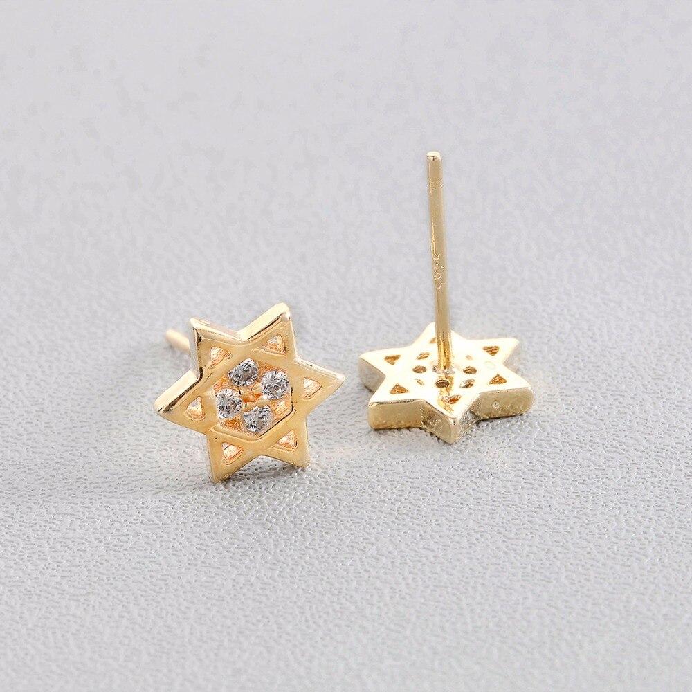 Boucles d'oreille étoile de David  or Israël  3