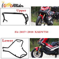 Upper & Lower Engine Crash Bar Buffer Guard Bumper Highway for 2017 2018 Honda X ADV 750 XADV 750 XADV750 Engine Tank Protector
