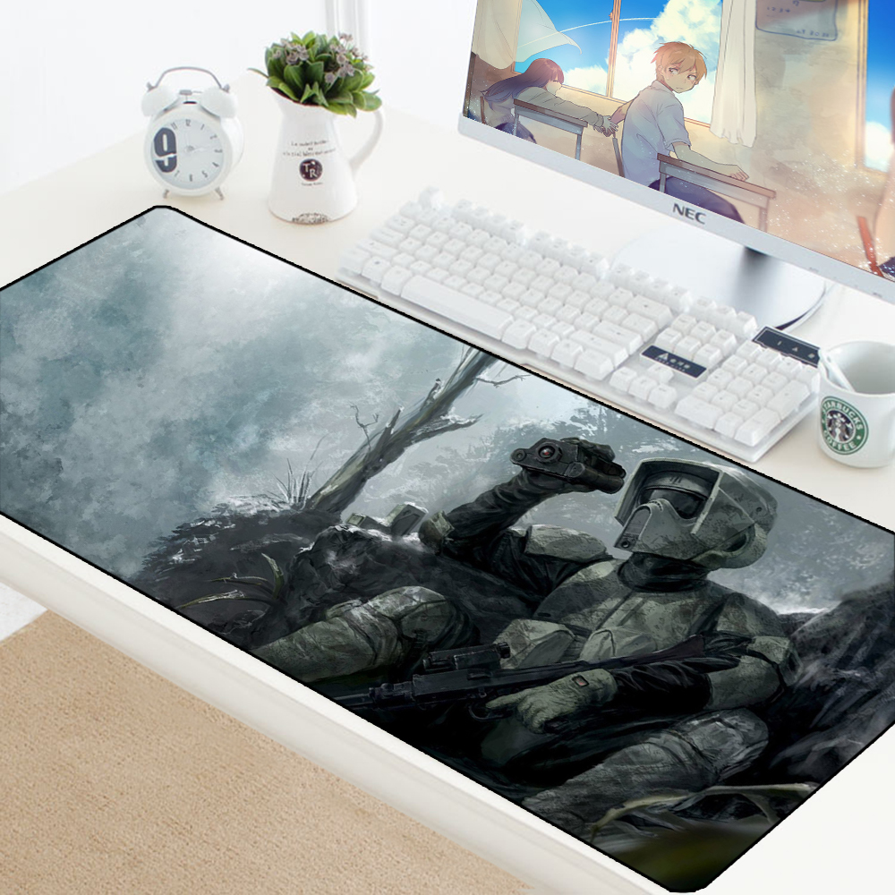Mouse Pad Gaming Star Wars Pad Mouse Mat Large Gamer Rubber Desk Protector Computer XL Keyboard Mouse Pad Custom Mat for Mouse rubber mouse pad mat black