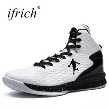 Men Women Sport Sneakers Basketball Boots Red White Men Sport Trainers High Top Girls Basketball Shoes Cheap(China)