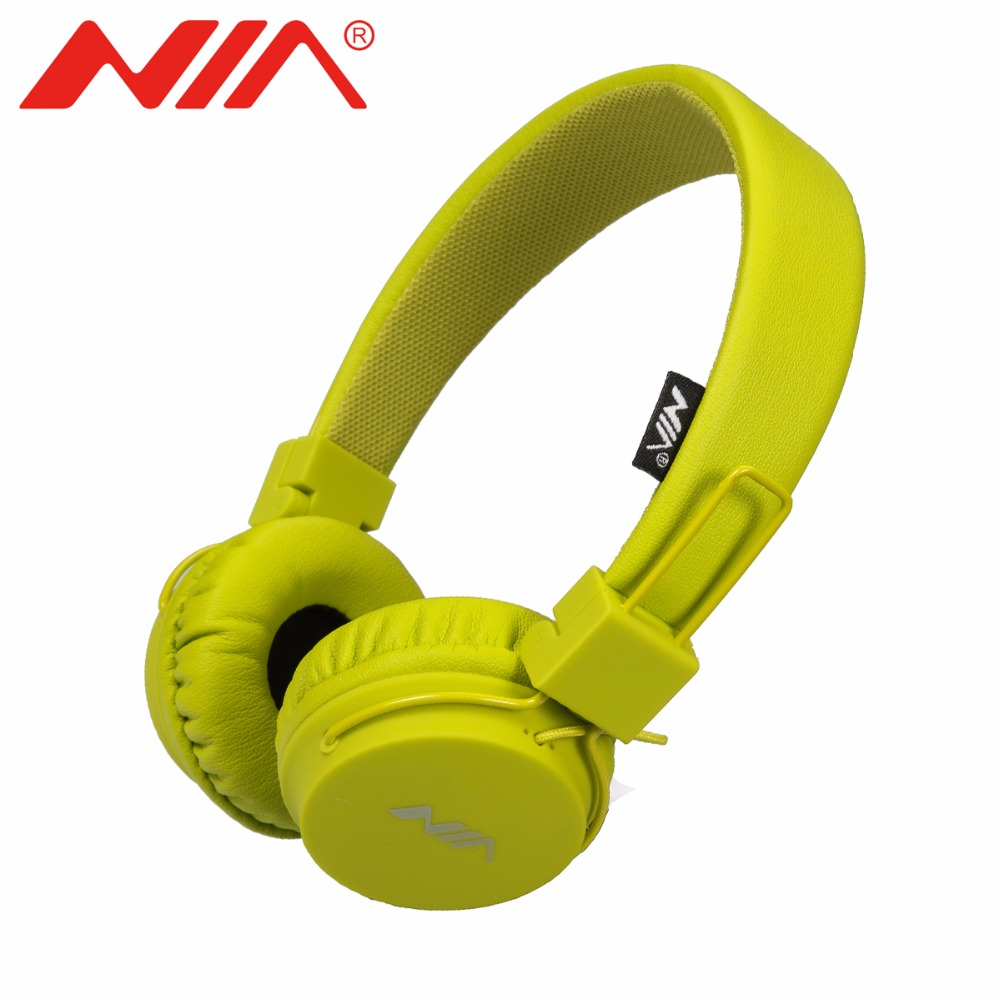 NIA A1 Original Stereo Headphones Wired Classical Headsets Foldable Sport fone de ouvido with Mic for Mobile Phone original nia 8001 wireless stereo headsets fone de ouvido foldable sport headphones with mic tf card fm radio earphone