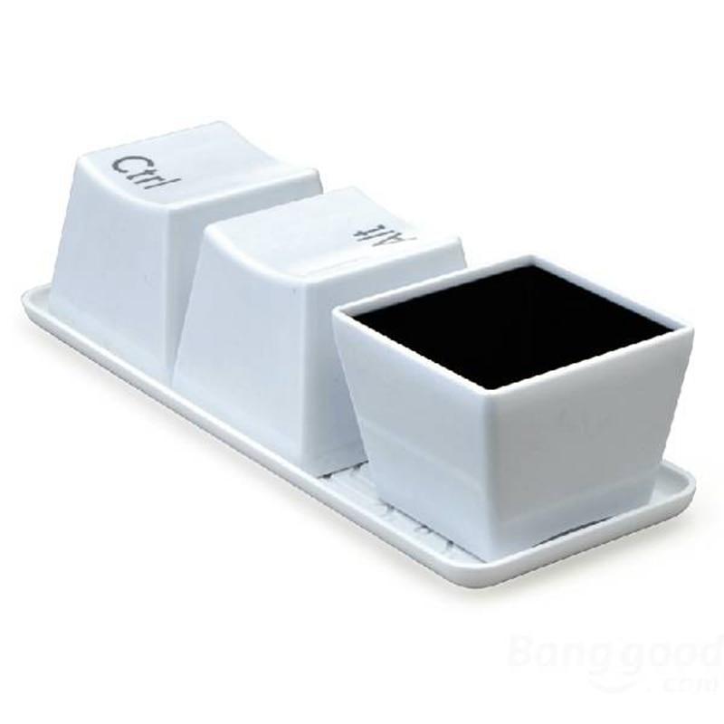 Simple Keyboard Ctrl Alt Del Style Mug 3pcs Set Novelty