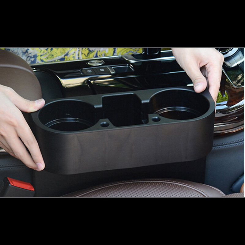Car Seat Gap Storage Box Plastica nera Auto Water Cup Telefono cellulare Pocket Organizzatori Automoibe Seat Gap Holder Stowing Riordino
