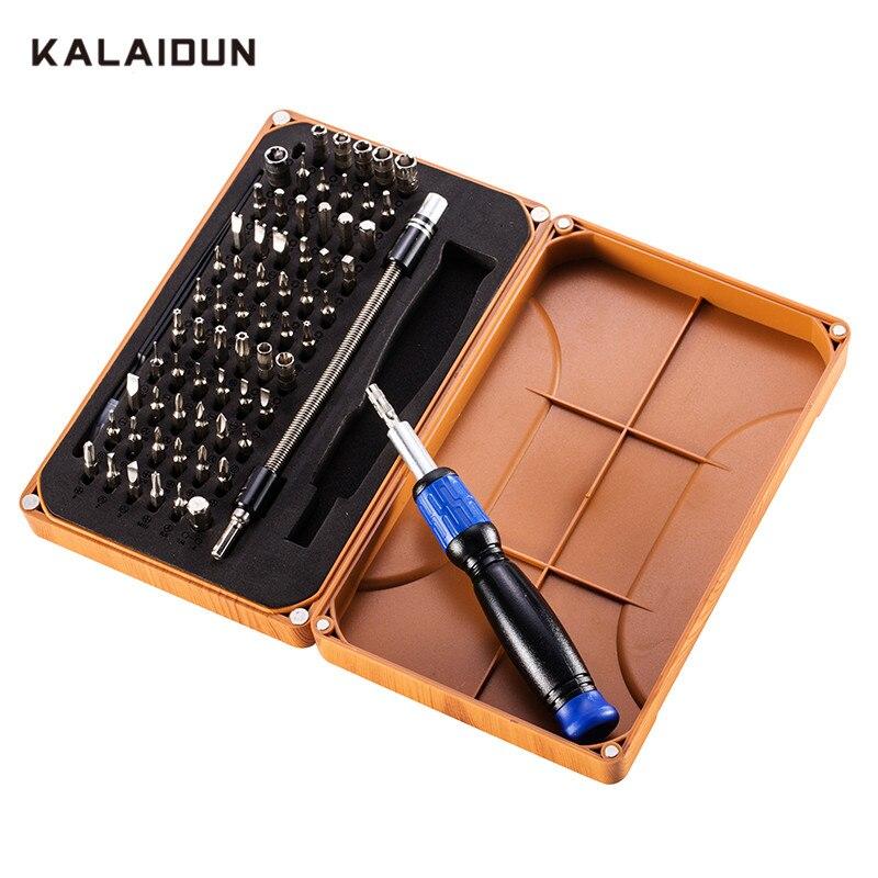 KALAIDUN 69 dans 1 Tournevis de Précision avec 66 Peu Magnétique Pilote Kit Main Outils de Réparation De L'électronique Outil Kits