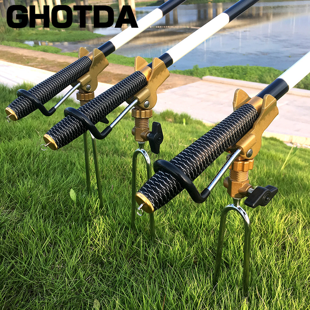 Fishing Rod Bracket Rod Holder Pole Bracket Tool Stainless Steel 360o Rotating Fishing Tools Fishing Accessories