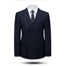 Tailor made men suits jacket double breasted groom wedding dress jacket solid color formal business suits jacket