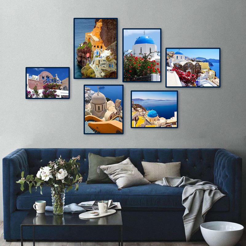 mar mediterrneo exquisita foto de la pared del paisaje de la lona poster pared a impresiones