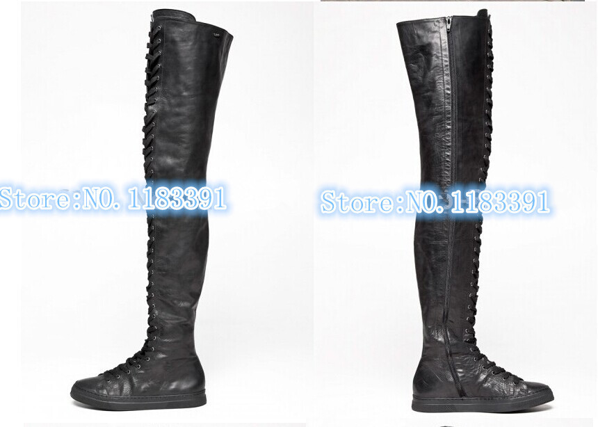 2014 newest fashion hot selling women genuine leather casual thigh ...